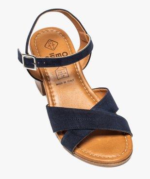 Sandales femme à talon carré coupe spéciale pied large vue5 - GEMO(URBAIN) - GEMO