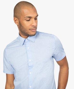 Chemise rayée à manches courtes coupe Regular vue2 - GEMO (HOMME) - GEMO