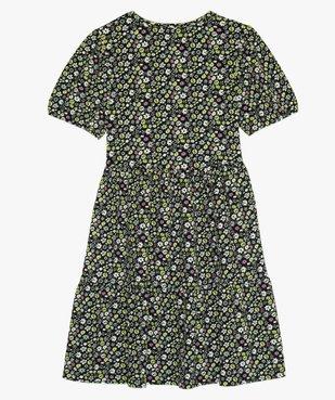 Robe fille à manches courtes en maille texturée vue4 - GEMO (JUNIOR) - GEMO