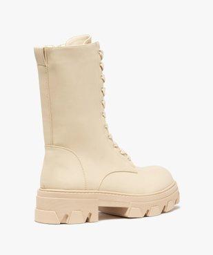 Boots femme unies à lacets semelle extra large et crantée vue4 - GEMO (CASUAL) - GEMO