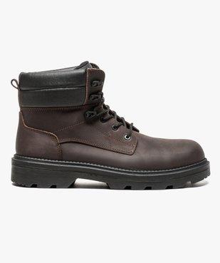 Chaussures hautes de sécurité avec semelle antistatique et résistante aux huiles vue1 - GEMO (SECURITE) - GEMO