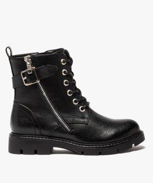 Boots fille à lacets style rock fermeture zippée vue1 - GEMO (ENFANT) - GEMO