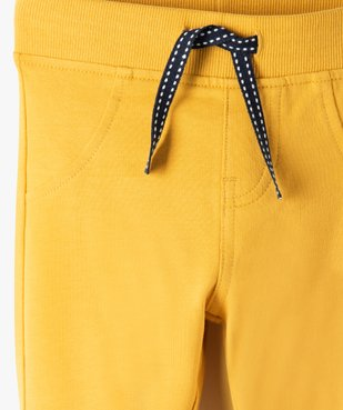 Pantalon de jogging bébé uni vue2 - GEMO C4G BEBE - GEMO