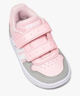 Baskets bébé fille multicolores à scratch – Adidas Hoops vue5 - ADIDAS - Nikesneakers