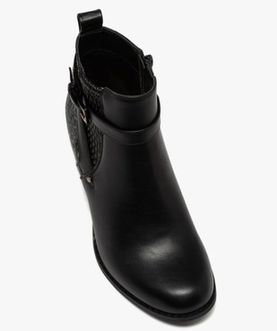 Boots femme à talon dessus multi-matières vue5 - GEMO(URBAIN) - GEMO