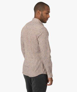 Chemise homme à motifs feuillage coupe slim vue3 - GEMO (HOMME) - GEMO