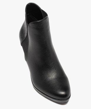 Boots femme à talon unies détails imitation serpent vue5 - GEMO(URBAIN) - GEMO