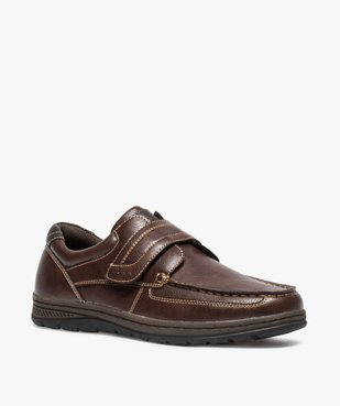 Chaussures bateau homme confort fermeture scratch vue2 - GEMO (CONFORT) - GEMO