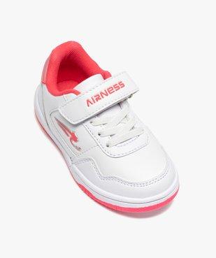 Baskets fille bicolores à lacets et scratch - Airness vue5 - AIRNESS - GEMO