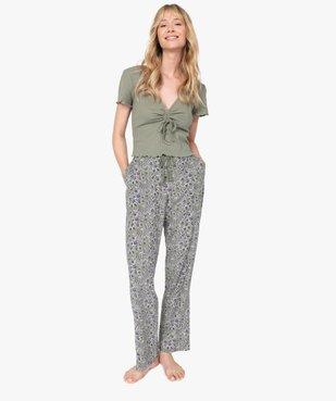 Pantalon de pyjama femme à motifs fleuris vue5 - GEMO(HOMWR FEM) - GEMO