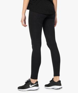 Legging femme uni en coton extensible vue3 - GEMO(FEMME PAP) - GEMO