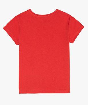 Tee-shirt fille uni à manches courtes  vue2 - GEMO C4G FILLE - GEMO