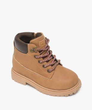 Chaussures montantes bébé garçon à semelle crantée - Les Supaires vue5 - GEMO(BEBE DEBT) - GEMO