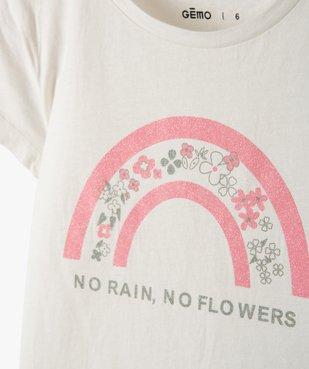 Tee-shirt fille à manches courtes avec motifs pailletés vue2 - Nikesneakers C4G FILLE - Nikesneakers