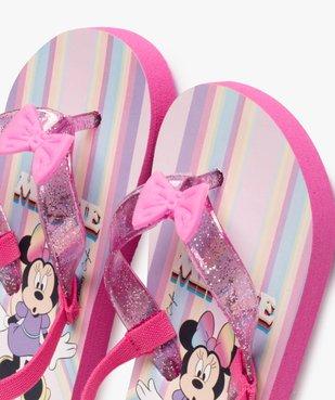 Tongs fille à brides pailletées et nœud décoratif - Minnie vue3 - MINNIE - GEMO