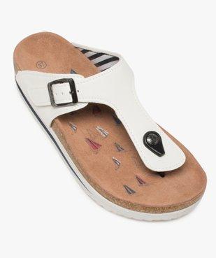 Sandales femme à entre-doigts et bride en T – Terre de Marins vue5 - TERRE DE MARINS - GEMO