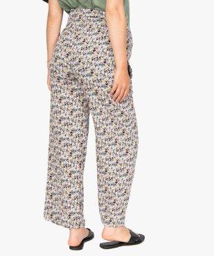 Pantalon de grossesse ample à fleurs et smocks à la taille vue3 - GEMO (MATER) - GEMO