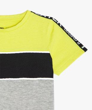 Tee-shirt garçon tricolore spécial sport vue2 - GEMO (ENFANT) - GEMO