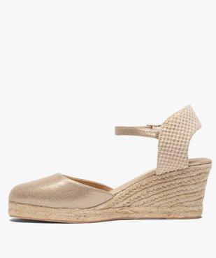 Sandales femme à talon compensé et bout fermé vue3 - GEMO(URBAIN) - GEMO