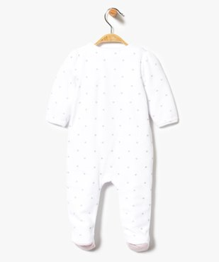 Pyjama bébé en velours avec ouverture avant et motifs étoiles vue2 - GEMO(BB COUCHE) - GEMO