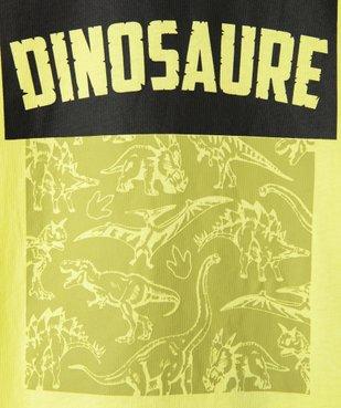 Tee-shirt garçon à manches courtes imprimé dinosaure vue3 - GEMO (ENFANT) - GEMO