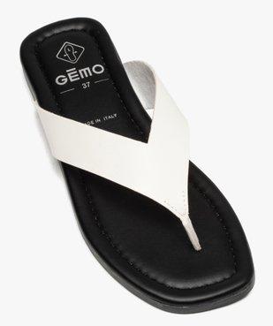 Sandales femme à entre-doigts coupe spéciale pied large vue5 - GEMO (CASUAL) - GEMO