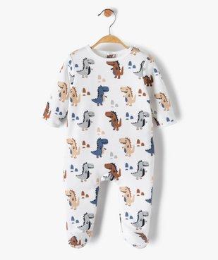 Pyjama bébé garçon avec motifs dinosaures vue1 - GEMO(BB COUCHE) - GEMO