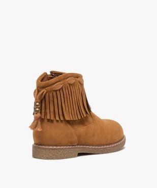 Boots fille en suédine unie avec col à franges vue4 - GEMO (ENFANT) - GEMO