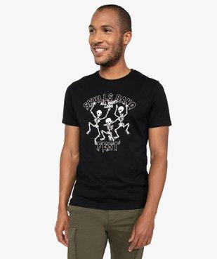 Tee-shirt homme à manches courtes et motif squelettes vue1 - GEMO (HOMME) - GEMO