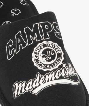 Chaussons femme mules en jersey imprimé – Camps United vue6 - CAMPS UNITED - GEMO