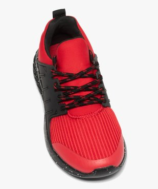 Baskets garçon extra légères à lacets bicolores  vue5 - GEMO (ENFANT) - GEMO
