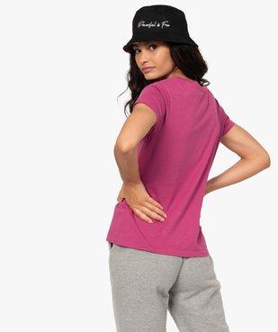 Tee-shirt femme à manches courtes et motif patiné - CAMPS vue3 - CAMPS UNITED - GEMO