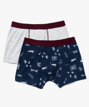 Lot de 2 boxers assortis avec large ceinture vue1 - GEMO (JUNIOR) - GEMO