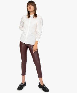 Pantalon femme en matière synthétique coupe slim vue5 - GEMO(FEMME PAP) - GEMO
