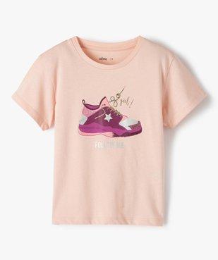 Tee-shirt fille avec motifs pailleté sur l'avant vue1 - GEMO (ENFANT) - GEMO