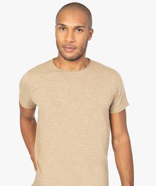Tee-shirt homme à manches courtes avec finitions roulottées vue2 - GEMO (HOMME) - GEMO