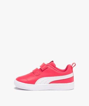 Tennis fille bicolores à scratch – Puma Courtflex vue3 - PUMA - Nikesneakers