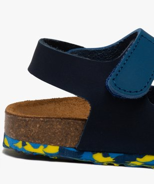 Sandales bébé garçon en cuir bicolore à scratch vue6 - GEMO(BEBE DEBT) - GEMO