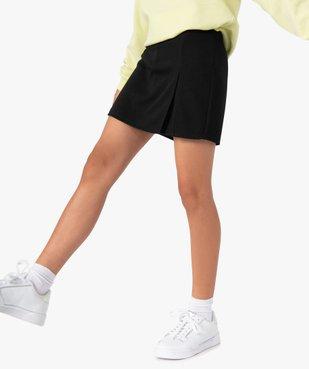 Jupe short fille en maille extensible vue1 - GEMO (JUNIOR) - GEMO