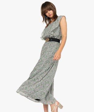 Robe femme longue à motifs fleuris vue1 - GEMO(FEMME PAP) - GEMO