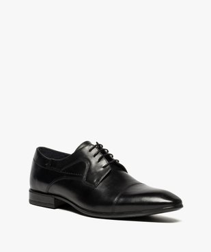 Derbies homme dessus cuir à bout carré vue2 - Nikesneakers(URBAIN) - Nikesneakers