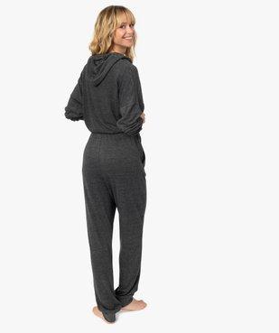 Combinaison femme à capuche en maille douce vue3 - GEMO(HOMWR FEM) - GEMO