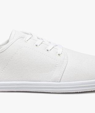 Chaussures basses homme style tennis en toile unies à lacets  vue6 - GEMO (SPORTSWR) - GEMO