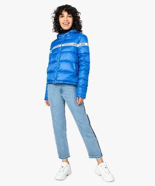 Doudoune femme à capuche et bande imprimée vue5 - FOLLOW ME - Nikesneakers