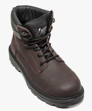 Chaussures hautes de sécurité avec semelle antistatique et résistante aux huiles vue5 - GEMO (SECURITE) - GEMO