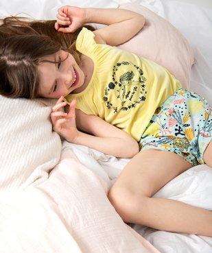 Pyjashort fille à bretelles et motifs marins vue1 - GEMO (ENFANT) - GEMO