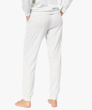 Pantalon de pyjama femme en maille fine vue3 - GEMO(HOMWR FEM) - GEMO