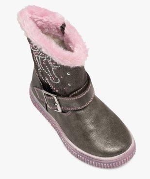 Bottes fourrées fille décor métallisé licorne vue5 - Nikesneakers (ENFANT) - Nikesneakers