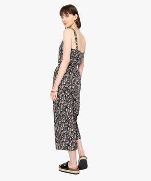 Combinaison pantalon femme imprimée en lin vue3 - GEMO(FEMME PAP) - GEMO