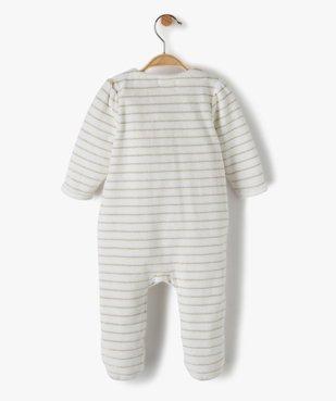 Pyjama bébé en velours à rayures brillantes vue3 - Nikesneakers(BB COUCHE) - Nikesneakers